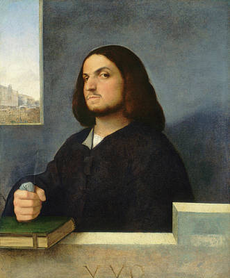 Book Painting - Portrait Of A Venetian Gentleman by Giorgione