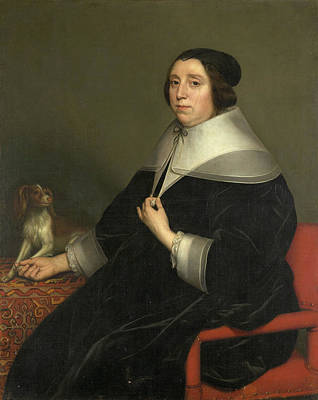 Puppies Painting - Portrait Of A Woman by Gerard van Honthorst