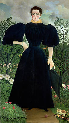 Strings Painting - Portrait Of A Woman by Henri Rousseau