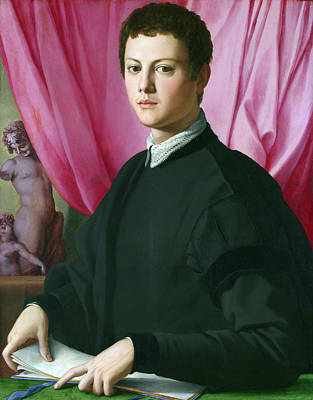 Man Painting - Portrait Of A Young Man by Bronzino