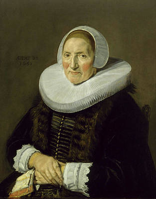 Female Painting - Portrait Of An Elderly Woman by Frans Hals