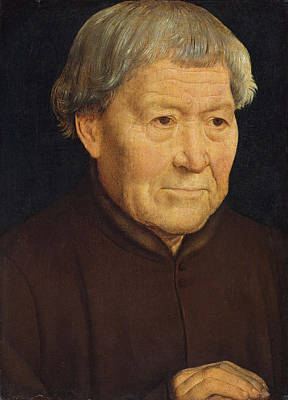 Man Painting - Portrait Of An Old Man by Hans Memling