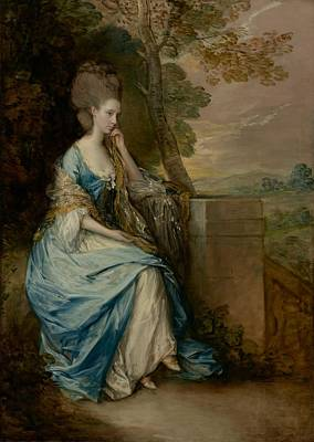 Evening Gown Painting - Portrait Of Anne -  Countess Of Chesterfield by Thomas Gainsborough