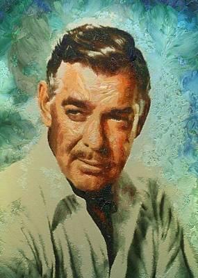 Portrait Of Clark Gable Print by Charmaine Zoe