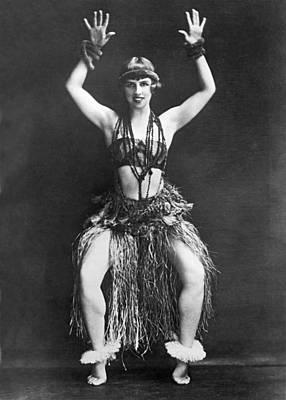 Portrait Of Dancer Agnes Boone Print by Underwood Archives