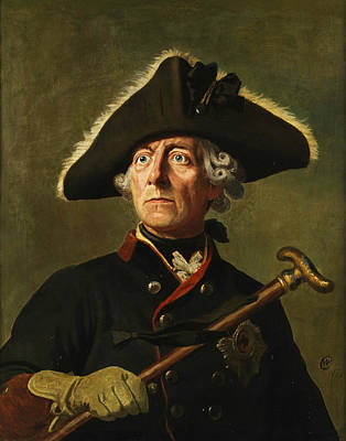 Painting - Portrait Of Frederick The Great by Wilhelm Camphausen
