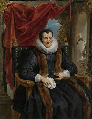 Portrait Of Magdalena De Cuyper Print by Celestial Images