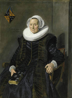 Woman Portrait Painting - Portrait Of Maritge Claesdr Vooght by Frans Hals