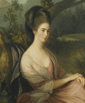 Portrait Of Miss Charlotte Dee Print by Thomas Hickey