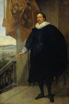 Standing Painting - Portrait Of Nicolaes Van Der Borght by Anthony van Dyck