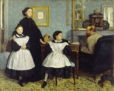 Children Painting - Portrait Of The Bellelli Family by Edgar Degas