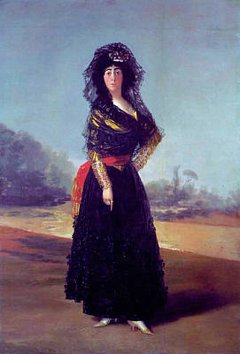 Woman Painting - Portrait Of The Duchess Of Alba by Francisco Goya