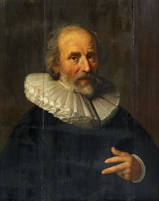Old Painting - Portrait Of The Painter Abraham Bloemaert by MotionAge Designs