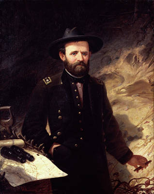 Ole Peter Hansen Balling Painting - Portrait Of Ulysses S. Grant by Ole Peter Hansen Balling