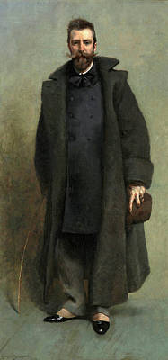 James Carroll Beckwith Painting - Portrait Of William Merritt Chase by James Carroll Beckwith