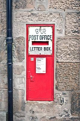 Mail Box Photograph - Post Box by Tom Gowanlock
