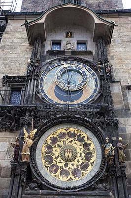 Prague Astronomical Clock Print by Andre Goncalves