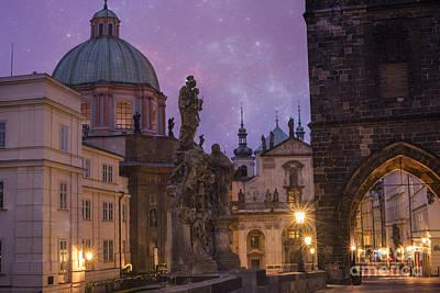 Gothic Bridge Photograph - Prague, Czech Republic by Juli Scalzi
