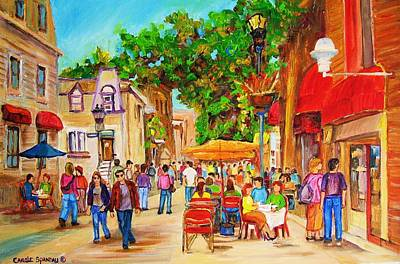 Quebec Streets Painting - Prince Arthur Street Montreal by Carole Spandau