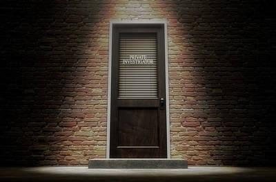 Private Eye Door Outside Print by Allan Swart