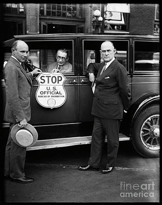 Prohibition Officers Print by Jon Neidert