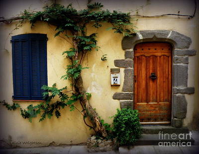 Provence Door Number 4 Print by Lainie Wrightson