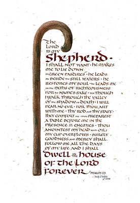Psalm 23 Print by Judy Dodds
