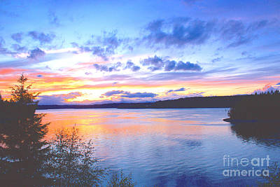 Photograph - Puget Sound Sunset by Sean Griffin