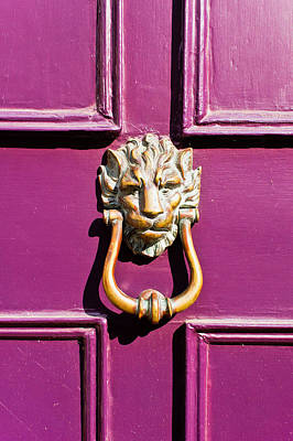 Adornment Photograph - Purple Door by Tom Gowanlock