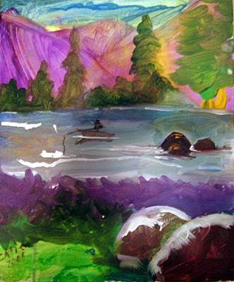 Arkansas Painting - Purple Mountains by Catherine Wellenberger