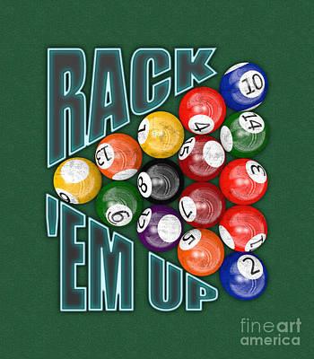 Billiards Hall Digital Art - Rack Em Up by Chris MacDonald