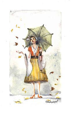 Rainy Day Print by Kristina Vardazaryan