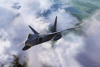 F-22 Digital Art - Raptor Rapture by Peter Chilelli