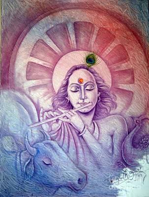 Shri Krishna Painting - Ras Leela by Prince Chand