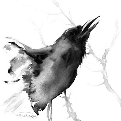 Raven Painting - Raven by Suren Nersisyan