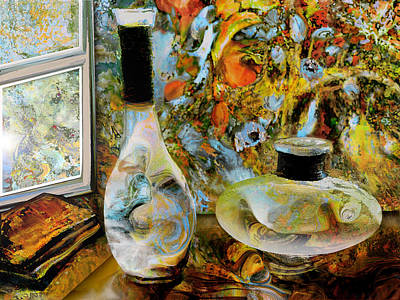 Flower Still Life Mixed Media - Ready For Flowers by Anne Weirich