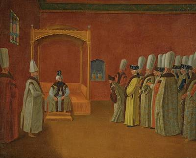 Sultan Painting - Reception Of A European Ambassador by Jean Baptiste