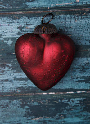 Red Heart Print by Nailia Schwarz