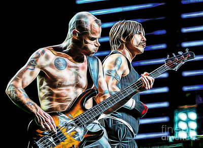 Red Hot Chili Peppers Collection Print by Marvin Blaine