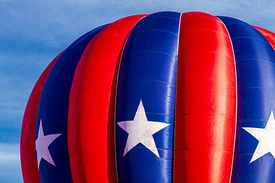 Red White And Blue Balloon Print by Teri Virbickis