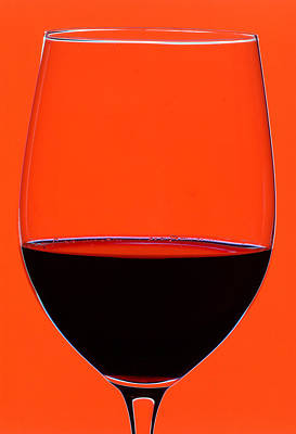 Cellar Photograph - Red Wine Glass by Frank Tschakert