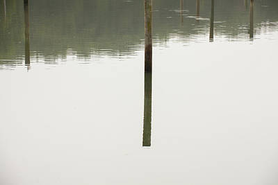 Reflecting Poles Print by Karol Livote