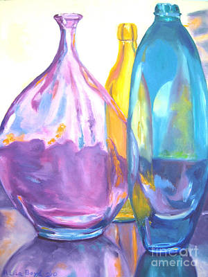 Reflections In Glass Print by Lisa Boyd