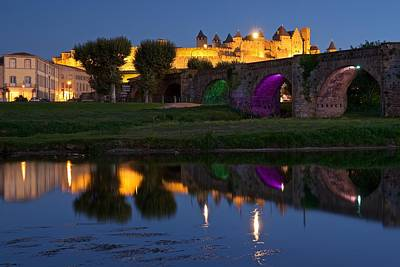 Reflections Of Carcassonne Print by Stephen Taylor