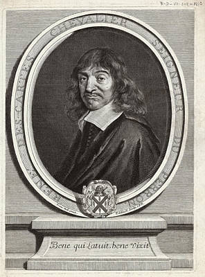 Hal Photograph - Rene Descartes, French Mathematician by Humanities & Social Sciences Librarynew York Public Library