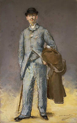 Standing Painting - Rene Maizeroy by Edouard Manet