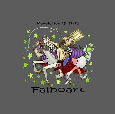 Revelation 19-11-16 Print by Anthony Falbo