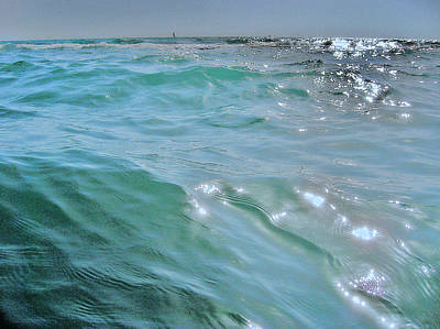 Mythical Glass Art Photograph - Rising Tide. Riviera Di Ulisse. Tyrrhenian Sea. Rome. Italy. by Andy Za