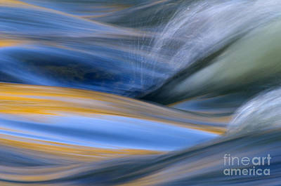 Flowing Photograph - River by Silke Magino