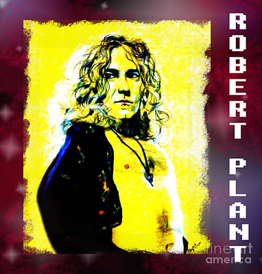 Led Zeppelin Drawing - Robert Plant Of Led Zeppelin   by Jim Fitzpatrick